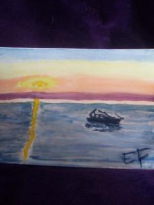 Petite barque au clair de lune